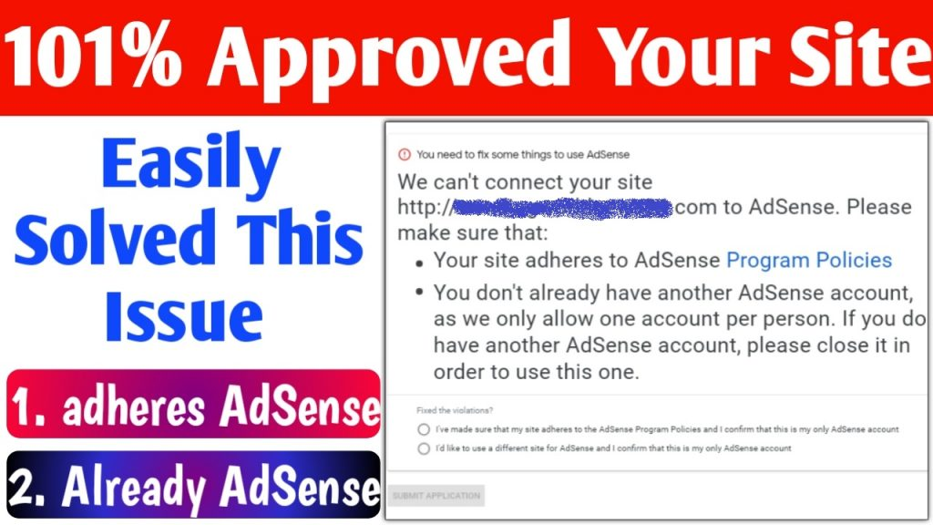 Already Adsense &  Adheres To Adsense