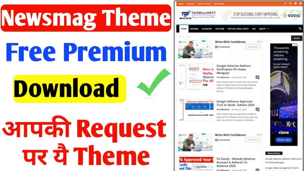 Newsmag Premium Theme v4.8 Free Download