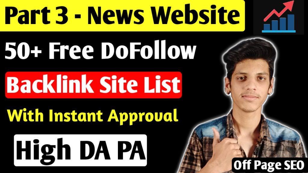 DoFollow Baacklink Site List 2020