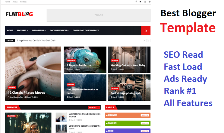 SEO Friendly Blogger Template 2020
